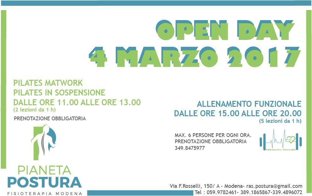 OPEN DAY 4 MARZO!!!! PILATES E FUNCTIONAL TRAINING