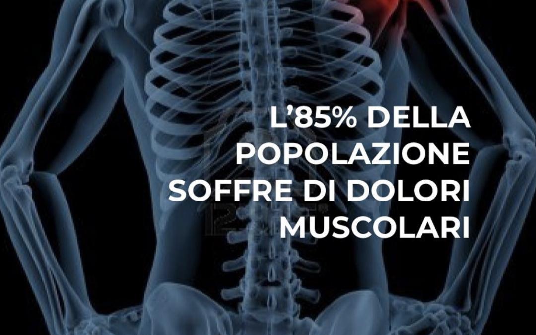 L'85% della popolazione italiana tra i 25 e i 54 anni soffre di dolori muscolari